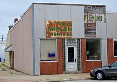 Pollard Implements, North Bend, NE (Robby Virus) Tags: northbend nebraska ne ghost sign signage partial rust rusty pollard implement implements store closed trump