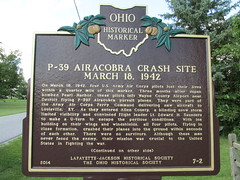 Marker front 002 (SixbyFire) Tags: armel kennedy eugene anderson earl houser edward saunders lima ohio p39 p39f aviation archaeology wreckchasing army air corps airacobra bell aircraft airplane crash accident survey allencounty 1942