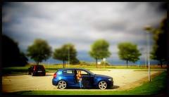 Wife in BMW... (iEagle2) Tags: ehefrau female femme frau samsungdigimaxl85 bmw 120 woman wife sweden summer skåne ystad