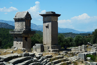 XANTHOS  Ancient City. KINIK/Turkey. Unesco  World Heritage List. Pillar Tombs at Xanthos