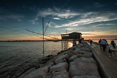 L'ora blu (paolotrapella) Tags: blu sunset tramonto crepuscolo mare trabucco water natura risso red canon