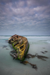 Driven (Rodney Campbell) Tags: capebanks ship ocean boat sa gnd09 water sky shipwreck southaustralia carpentersrocks cpl clouds carpenterrocks australia au