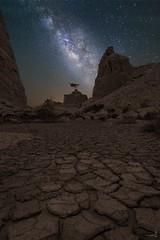 Cracks & MilkyWay- Qatar (zai Qtr) Tags: zaiqtr qatarliving qatar umbab doha uae ksa outdoor night nightphotography milkyway alone starts cracks nite qataratnight shams exploreqatar