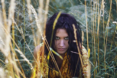 Waiting for the prey (Enrico Cavallarin) Tags: girl aggressive portrait girlportrait portraiture bokeh grass savana savannah hair wet wyws lioness nature killer 50mm nikon nikonist camera raw wild forest