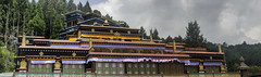 Rumtek Monastery      ~ Explore ~ (U A Satish) Tags: rumtekmonastery gangtok sikkim india monastery architecture sky clouds trees uasatish dharmachakracentre explore