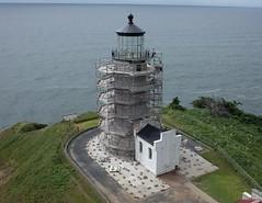 North Head Lighthouse - restoration (El Kite Pics) Tags: kap kite aerial lighthouse northhead ilwaco washington usa