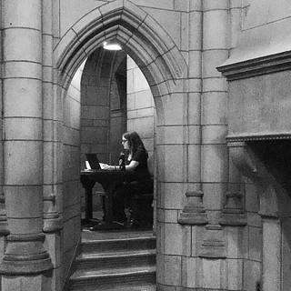 Working in library! Cathedral of Learning Pittsburg