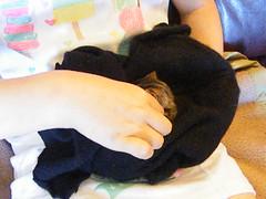 Teeny Tribble meets little Mia (rospix+) Tags: rospix 2017 june wales uk animal cat kitten tabby tabbycat cute video tiny tribble sleep sleeping sleepy