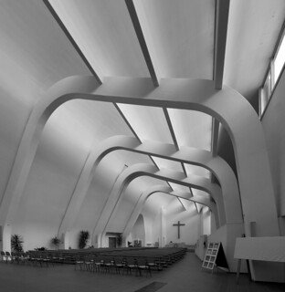 alvar aalto, architect: riola church, italy 1966-1994. interior