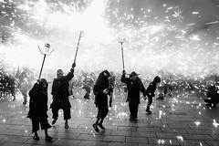 Fire celebration / Correfoc (JordiTrenzano) Tags: barcelona street streetphotography streetshot streetscene urban city black white blackandwhite blanco y negro blancoynegro blanc negre correfoc santa eulalia