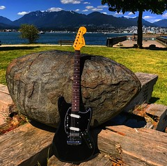 On the Rocks (Pennan_Brae) Tags: musicalinstrument instrument sixstring guitarphotography vancouverbc yvr vancity fenderguitars electricguitars guitars madeinjapan offsetguitar fenderguitar fender guitar musicphotography vancouver electricguitar fendermustang