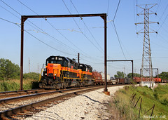CSS 805 @ Hammond, IN (Michael Polk) Tags: chicago south shore bend railroad hammond in roxanna curve sd382 freight steel train indiana 805 804