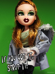 Strut It! Meygan Takeover (PancakeBoss) Tags: bratz meygan doll strut it mga 2003 i think lol makeup green glam gal