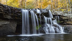 Autumn falls (Notkalvin) Tags: brushcreek falls waterfall notkalvin mikekline outdoor longexposure water creek notkalvinphotography fall autumn leaves trees morning smooth nature erosion westvirginia hiking