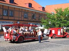All aboard in Ystad, Sweden (Nigel L Baker) Tags: fire engine ystad vehicle sweden