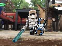 TRAITOR! (splinky9000) Tags: kingston ontario toys lego star wars minifigure scout trooper tr88r the force awakens lightsaber staff shield riot control stormtrooper