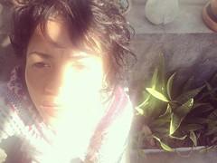 s.olar (d.esencantada) Tags: plantas descabelada fringe franja messyhair winter smile sorriso rosto face sun sol garota girl autoretrato selfie