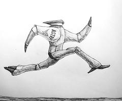 Runner (Marcos Telias) Tags: illustration drawing dibujo ilustración sketch boceto bosquejo arte artista artist ballpoint bolígrafo pen lápiz fantasy