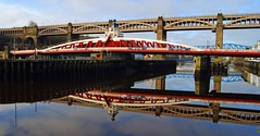 Swing bridge (WISEBUYS21) Tags: koillisenglannissa pohjois landskap landskab maisema paysage landschaft paesaggio paisaje campo campagne campagna wisebuys21 sage tynebridge reflections shadows mirror millenniumbridge blue rivertyne tyne baltic newcastleupontyne northeastofengland earlymorning shooting water still reflection quayside newcastle boat boats sunrise dawn sun car cars bus lights morning cold church clocktower keep castle gateshead museum art gallery modern royalnavy yacht george robert stephenson highlevelbridge swingbridge redheugh hilton metro bridge citycentre keelman coals history historic