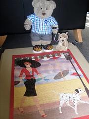 Walkies! (pefkosmad) Tags: jigsaw puzzle leisure pastime hobby complete tedricstudmuffin teddy bear ted dog pup pefki pet cute stuffed toy animal softie fluffy plush greekshepherd