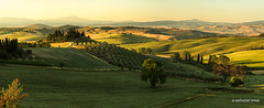 Tuscan Farmhouse Pano (aryanphotography) Tags: illuminate anthonyrryan arr sunrise arrtography nature italy cypresstree summer warm panoramic anthony hdr farmland scenic valdorcia sky farm sanquiricodorcia landscape anthonyryan outdoors