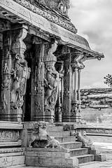 The Ranga Mantapa (ashpmk) Tags: temple architecture hampi india southindia hindu hinduism vittala vittalatemple karnataka karnatakatourism tourism spiritual bnw blackandwhite canon