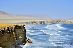 Paracas, Perú 1  _DSC1040-4 - (German Galvez Olguin) Tags: perú paracas mar ica acantilado oceano oceanopacifico paisaje desierto ola wave perou seascape naturaleza blue azul bleu platinumheartaward arena cielo