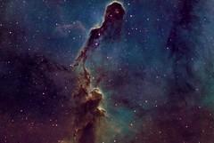 Elephant Trunk - IC 1396 (Manifest Stephanie) Tags: stars night sky telescope astrophotography elephant trunk nebula astrophysics takahashi qsi seattle texture