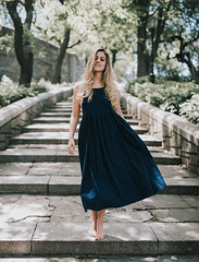 Moving On (hollyrosestones) Tags: select moving steps riverside park nyc new york city dress barefoot