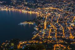 Lugano harbour (Ettore Trevisiol) Tags: ettore trevisiol nikon d7200 nikkor 18 70 ticino lugano swiss svizzera monte brè bluehour night landscape panorama lauis blue hour storm deluge cassarate thunderstorm flood clouds cloud sunset