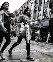 SHOPPING... (BABAYAGA321) Tags: belfast victoriasquare streetphotography graffiti streetart clocktower murals dirtyonion guinness salvadoredali johnpeel stenaline langanriver ferry stannescathedral spireofhope