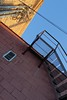 Around Downtown Stevens Point, WI 4/22/2017 6:23PM (Craig Walkowicz) Tags: architecture building cement cinderblock brick stairs sky vent stevenspoint wisconsin ccw
