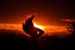 hairs + sunset