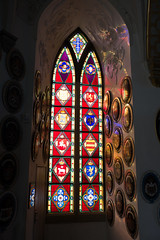 Stained glass at Fredericksborg Castle (quinet) Tags: 2017 antik copenhagen danishmuseumofnationalhistory frederiksborgcastle glasmalerei ancien antique museum stainedglass vitrail zealand denmark