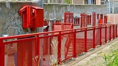 Slipway Y. (Hans Veuger) Tags: nederland thenetherlands amsterdam amsterdamnoord ndsm ndsmwerf ndsmwharf scheepsbouw yhelling yslipway history hff fence nikon b700 coolpix nederlandvandaag twop unlimitedphotos red rood