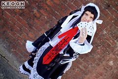 IMG_2481.jpg (Neil Keogh Photography) Tags: headress silver manga ribbons lace wig hood anime blouse videogames nwcosplayjunemeet2016 gothiclolita frills dress tights danganronpa maiddress jacket red female schoolgirl coat black hat tie cosplay white celestia boots cosplayer ring celestialudenberg playingcard
