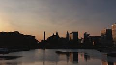 Nightfall over Salthouse Dock (grobigrobsen) Tags: liverpool merseyside england uk britain travel city citytrip night evening street urban