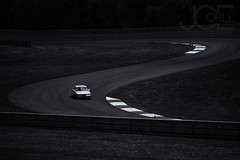 Lonely Turns (Joseph Corll) Tags: bmw 1995 95 m3 raceway race way pittsburgh pgh racing silver zoom international intl time trial timetrial fast water mark watermark watertag tag turn turns sbend s bend black white bw monochrome monochromatic
