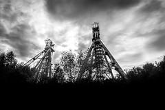 Au nord... (Cédric Fumière) Tags: blackandwhite charleroi chevalement coal heavy mine sky history wallonie belgium be