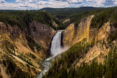 Yellowstone Falls (NickSouvall) Tags: lower yellowstone yellow stone falls waterfall national park water river stream cliffs cliff clouds clear sky summer color colorful landscape nature wild wilderness explore photography photo picture adventure roadtrip rocky discover