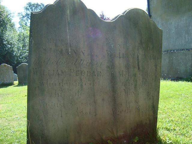 Willam & Susanna Peddar Headstone, Shelland Churchyard