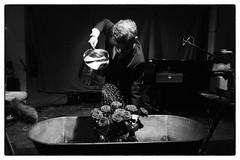 John Cage's Water Walk performed by Arthur Bruce @ Cafe Oto, London, 10th July 2017 (fabiolug) Tags: bathtub roses flowers piano pianoforte water johncage waterwalk arthurbruce smithbrown avantgarde cafeoto london dalston music gig performance concert live livemusic leicammonochrom mmonochrom monochrom leicamonochrom leica leicam rangefinder blackandwhite blackwhite bw monochrome biancoenero leicaelmarit28mmf28asph elmarit28mmf28asph elmarit28mm leicaelmarit28mm 28mm elmarit leicaelmarit wide wideangle