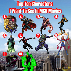Top Ten Characters I Want to see in MCU Movies (AntMan3001) Tags: top ten characters i want see mcu movies