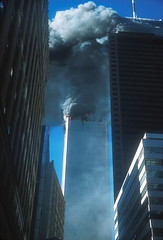 Terrorist attack on the World Trade Center, NYC, 9/11/01. (WTCDamageFiresCollapsesDebris) Tags: 2001 911 nyc newyorkcity september11 usa wtc worldtradecenter editorial news photojournalism terrorism terroristattack thetwintowers newyork