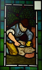 Labours of the Months: November, Slaughtering a Pig (1863) (Simon_K) Tags: ely cambridgeshire cambs eastanglia cathedral window glass stained sgm nikon d5300