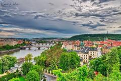 Prague bridges and towers (kadofr) Tags: prague czech river moldau vltava cz