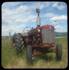 Work horse (Crusty Da Klown) Tags: tractor ranch ttv square machine field rusty old