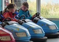 Driving Instructor and pupil (NellyMoser) Tags: barrys portrush martha evie dodgems