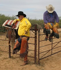 COWBOY GEAR (AZ CHAPS) Tags: arizona ranch corral cowboys chinks gear boots spurs