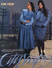 Paris Blues 1987 (barbiescanner) Tags: vintage retro fashion vintagefashion vintageads 80s 1980s 80sfashion 1980sfashion parisblues denim stonewasheddenim jeans